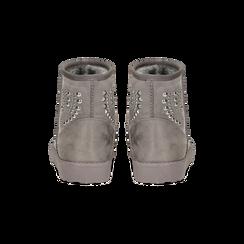 Scarponcini invernali grigi con mini borchie, Scarpe, 12A880115MFGRIG, 003 preview