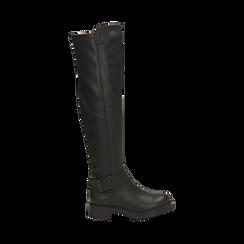 Stivali overknee neri con lavorazione bottalata, Primadonna, 163003615ELNERO036, 001 preview