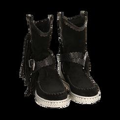 CALZATURA TRONCHETTI CAMOSCIO NERO, Chaussures, 15A220102CMNERO036, 002 preview