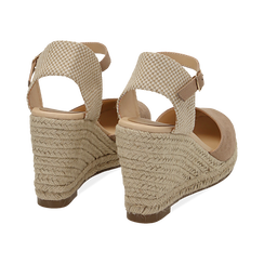 WOMEN SHOES ESPADRILLAS MICROFIBER BEIG, Zapatos, 154922102MFBEIG036, 004 preview