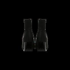 Tronchetti calzino neri, tacco 4 cm, Scarpe, 124895551LYNERO, 003 preview