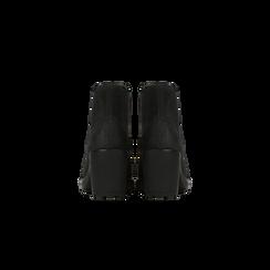 Chelsea Boots neri in nabuk, tacco medio 7 cm, Primadonna, 120800819NBNERO037, 003 preview