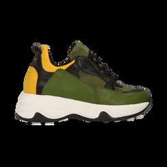 """Sneakers nero-verde  con zeppa effetto """"wave"""", Primadonna, 12A600999PENEVE039, 001 preview"""