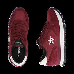 Sneakers bordeaux in microfibra, Scarpe, 140600201MFBORD036, 003 preview