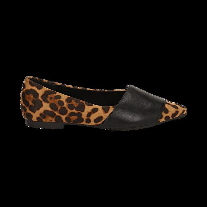 super popolare 30861 6eb49 Ballerine a punta leopard in micorfibra