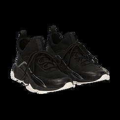 Sneakers nere in lycra con dettaglio effetto mirror, Scarpe, 145019191LYNERO035, 002 preview