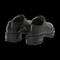 Stringate nere in eco-pelle con perline sulla suola, Scarpe, 140691312EPNERO037, 004 preview