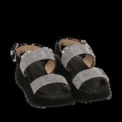 CALZATURA ZEPPA MICROFIBRA PIETRE NERO, Zapatos, 154991102MPNERO036, 002a