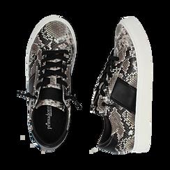 Sneakers blanc/noir imprimé python, Primadonna, 162619071PTBINE040, 003 preview