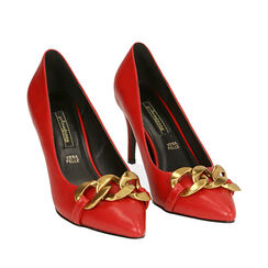 Escarpins rouges, talon 8 cm , Primadonna, 184850663EPROSS035, 002a