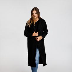 Cappotto lungo nero lavorazione shearling, Saldi, 12G750756TSNERO3XL, 004
