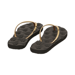 Ciabatte infradito oro in pvc, Zapatos, 15J370785PVOROG036, 004 preview
