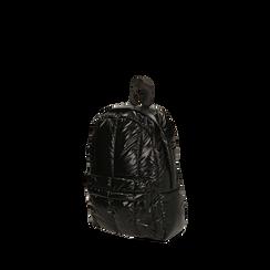 Zaino duvet nero in tessuto, Primadonna, 165122936TSNEROUNI, 002a
