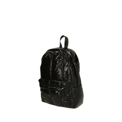 Sac à dos noir duvet en tissu, Primadonna, 165122936TSNEROUNI, 002a