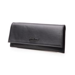 Pochette piatta nera in eco-pelle, Borse, 145122509EPNEROUNI, 004 preview