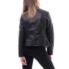 Biker jacket nera in eco-pelle, Abbigliamento, 146500127EPNERO3XL, 002a