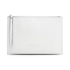 Pochette rettangolare bianca in eco-pelle, Borse, 133732356EPBIANUNI, 001 preview