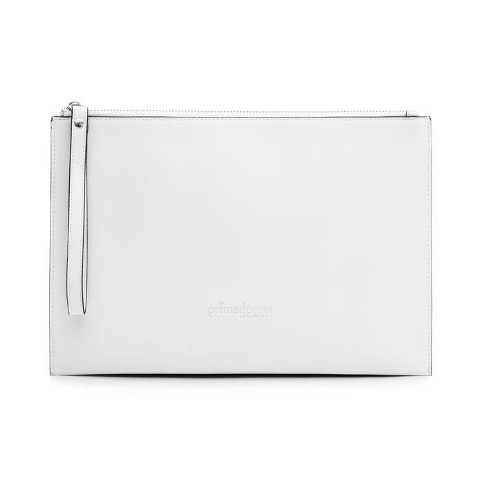 Pochette rettangolare bianca in eco-pelle, Borse, 133732356EPBIANUNI