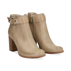 Ankle boots beige in vitello , Scarpe, 138900604VIBEIG036, 002 preview