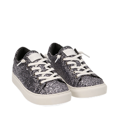 Sneakers argento glitter, Primadonna, 162600308GLARGE035, 002a