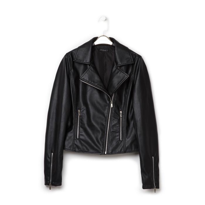 Biker jacket nera in eco-pelle, Primadonna, 136501161EPNEROL