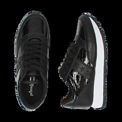 Sneakers nere in vernice, Primadonna, 162619079VENERO036, 003 preview