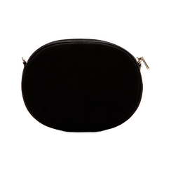 Tracollina nera in microfibra con oblò dorati, Saldi, 123308609MFNEROUNI, 002 preview
