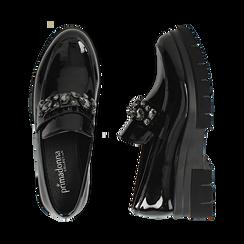 Mocasines de charol negro, Primadonna, 160685982VENERO035, 003 preview