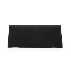 Pochette piatta nera in microfibra, Primadonna, 145122509MFNEROUNI, 003 preview