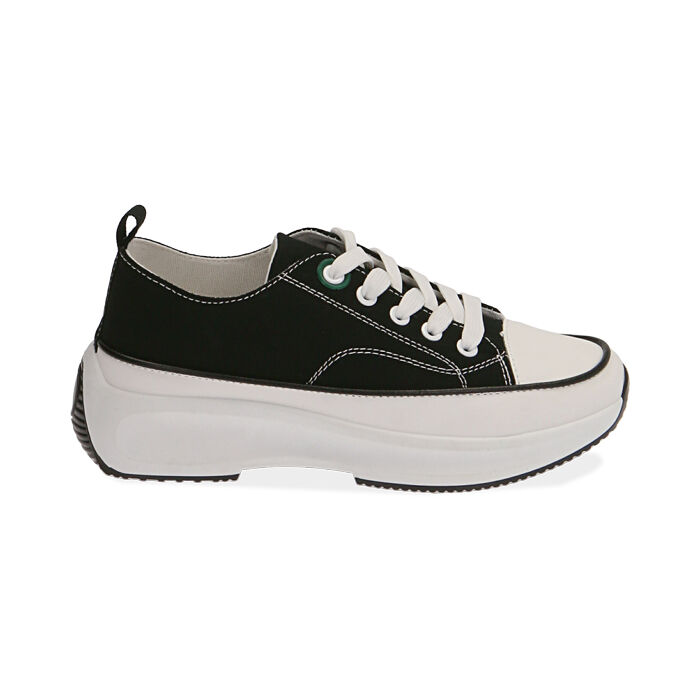Sneakers chunky nere in canvas, Primadonna, 17K910193CANERO035