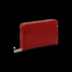 Portafoglio rosso in ecopelle vernice , Saldi, 122200896VEROSSUNI, 003 preview