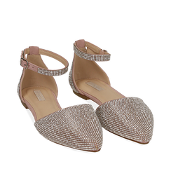 Ballerines bijou en microfibre nude, Chaussures, 154968041MPNUDE035, 002a