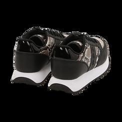 Sneakers bianco/nere stampa pitone, Primadonna, 162619079PTBINE036, 004 preview