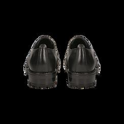 Brogues stringate nere in vera pelle, Scarpe, 126905554VINERO, 003 preview