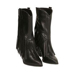 Santiags noirs, talon 8,5 cm, Primadonna, 172139014EPNERO035, 002a