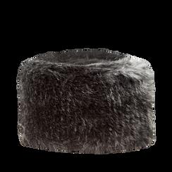 Colbacco nero in pelliccia, Saldi Abbigliamento, 12B413001FUNERO3XL, 001a