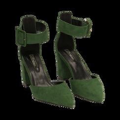 Décolleté verdi in microfibra, tacco 8 cm, Primadonna, 164823062MFVERD036, 002 preview