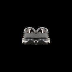 Sneakers grigie dettagli glitter , Scarpe, 121308201LMGRIG, 003 preview