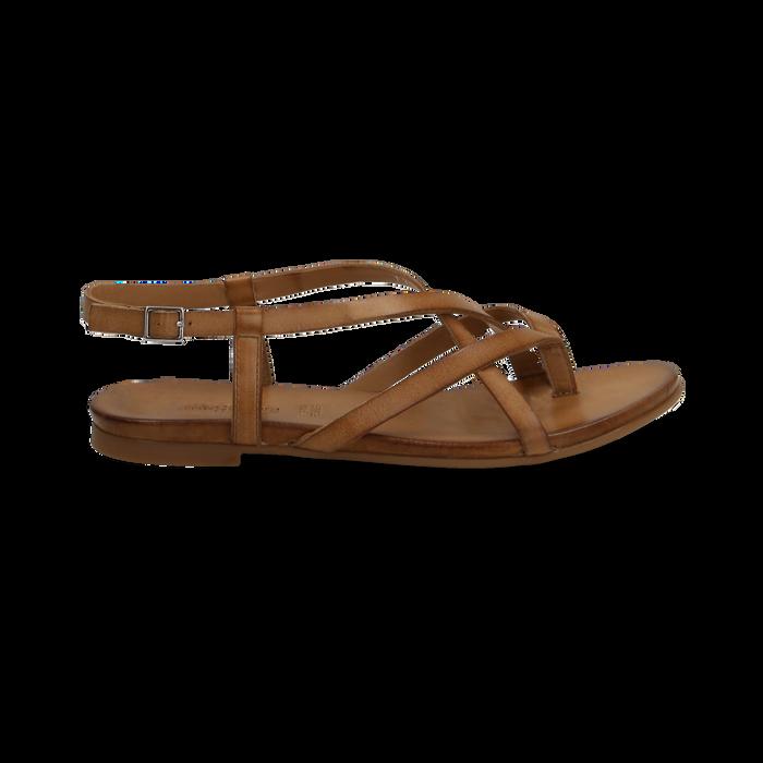 nuovi arrivi scegli il meglio scarpe da ginnastica Sandali flat cuoio in pelle