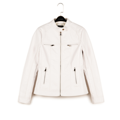 Veste de motard blanche en simili-cuir , Primadonna, 156501203EPBIANL, 003 preview