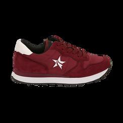 Sneakers bordeaux in microfibra, Scarpe, 140600201MFBORD036, 001 preview