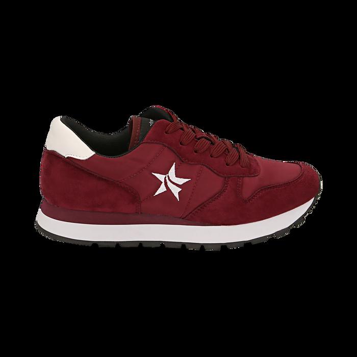 Sneakers bordeaux in microfibra, Scarpe, 140600201MFBORD036