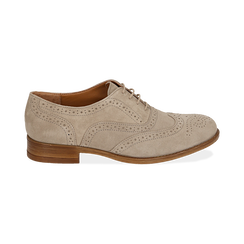 Derbies taupe en Nubuck, Chaussures, 159908418CMTAUP037, 001 preview
