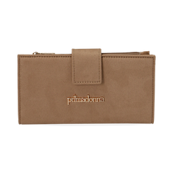 Monedero en microfibra color beige, Bolsos, 155122158MFBEIGUNI, 001 preview