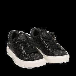 Sneakers noires glitter, Primadonna, 162600308GLNERO035, 002a