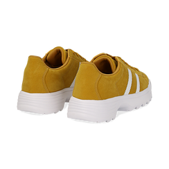 Dad shoes gialle in microfibra stile vintage Seventies, Scarpe, 130101211MFGIAL036, 004 preview