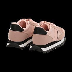Sneakers nude in tessuto tecnico , Scarpe, 142619079TSNUDE035, 004 preview