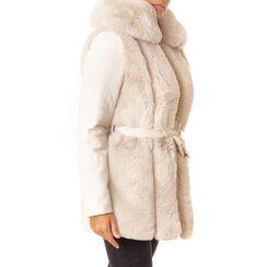 Pelliccia panna in eco-fur, Primadonna, 186500023FUPANNL, 001a