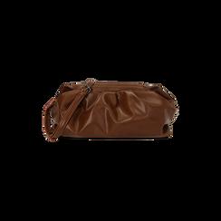 Maxi clutch cuoio, IDEE REGALO, 165122668EPCUOIUNI, 001 preview