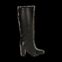 Stivali neri, tacco 9,50 cm , Primadonna, 163026501EPNERO035, 001 preview